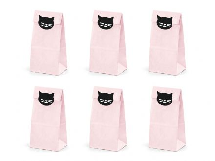 Pink Sweet Bags & Cat Stickers